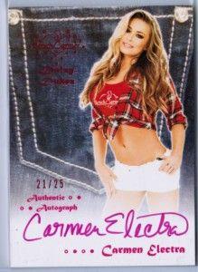 Carmen Electra 2012 Benchwarmer Daizy Dukez D 21 25 Pink Auto