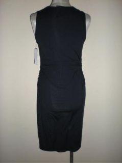 Carmen Marc Valvo Malawi Black Ruched Coverup Dress Swim M New