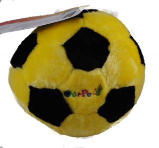 Play N Speak Record Message Soccer Ball Plush Dog Toy