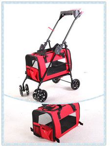 3in 1 Pet Stroller Dog Cat Carrier Bed House 4 Colors