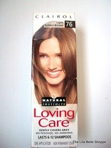 Natural Instincts Loving Care Hair Color Light Golden Brown 76