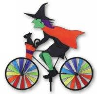 20 Halloween Witch on A Bicycle Lawn Garden Wind Spinner New PR 26852