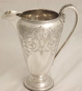 RARE Paisley Pattern by Wilcox Silver Co Water Pitcher Ice Tea Pitcher