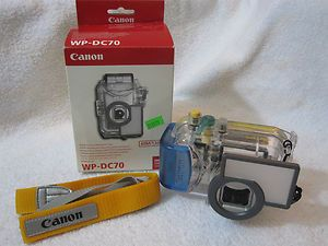 CANON WP DC70 WPDC70 DIGITAL CAMERA WATERPROOF CASE UNDERWATER HOUSING