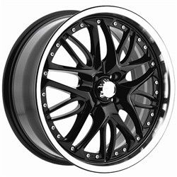 17 inch Menzari Z01 Black Wheels Rims Dodge Avenger Stealth Stratus