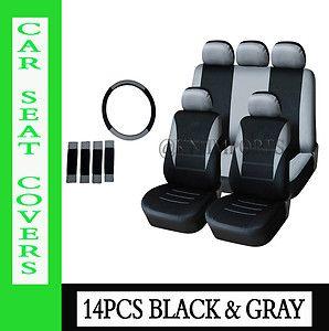 Gray Auto Car Seat Covers Low Back Semi Custom for Car Van SUV