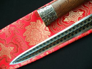 Red Cliff Antique Sword Handmade Copper Inlaid in Carbon Steel