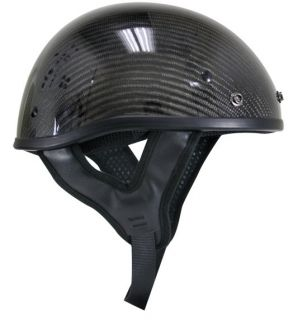 dot approved half helmet real carbon fiber size medium