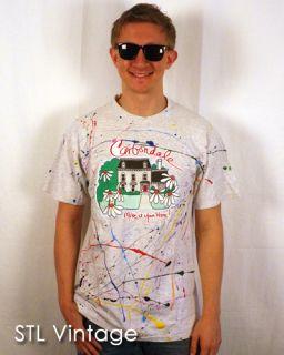 Vtg 90s Carbondale Paint Splatter Blast T Shirt Thin L