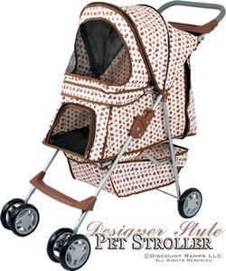 DESIGNER FOLDING DOG STROLLER CARRIER PET STROLLERS PET STR 3