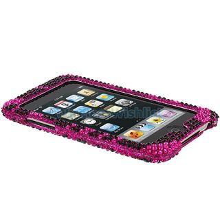 Zebra Rhinestone Bling Case Cover for iPod Touch 3rd 2nd Gen 3G
