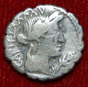 ROMAN REPUBLIC COIN MARIUS CAPITO YOKE OF TWO OXEN SILVER DENARIUS