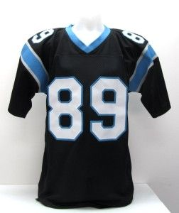 Steve Smith Signed Carolina Panthers Custom Black Jersey Smith Holo SI