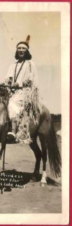 Indian Woman Princess Silver Star Costume on Horse Cass Lake MN