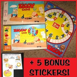 COMPLETEA DAY WITH ZIGGYVtg Cartoon Character Family/Kid Board Game+