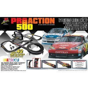 Action 500 Slot Car Race Set NASCAR New Accessories Tracks Race Cars