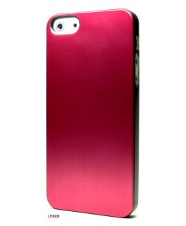 Red Cases Chrome Plated Metal Hard Brushed Cover Case Skin for iPhone