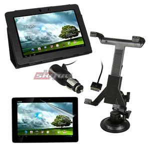 items Leather Case Car Mount Car Charger For Asus TransFormer Pad