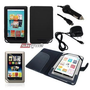 leather/silicone case car wall charger film guard for