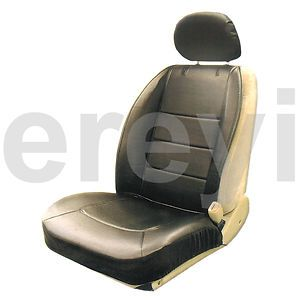 Black Vinyl Sideless Car Seat Cover with Headrest Auto Truck