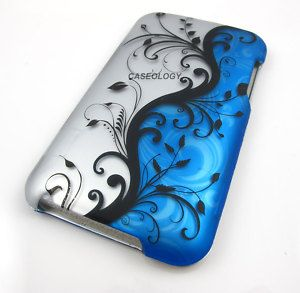 Blue Vines Case Cover iPod Touch 2nd 3rd Gen Accessory