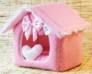Princess Prince Pink Blue Pet Dog Cat Bed House M L