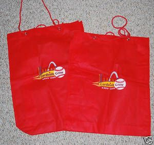 MLB St Louis Cardinals Crew Club Red Logo Shopping Bag