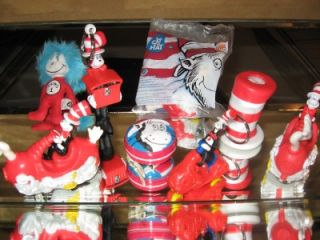 Dr Seuss Cat in Hat Lot of Toys Cars Keychain Thing 1