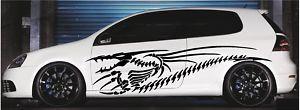 Dragon Skeleton Car SUV Truck Graphics Vinyl Side Decals