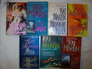 Lot of 7 Historical Romances by Kat Martin
