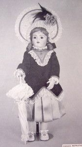 Byron Doll Pattern BY70 Casimir Bru JNE Dress Parasol Hat for 23 24