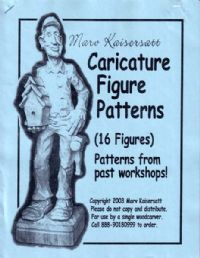 Wood Carving Caricature Figure Patterns 1 16 Patterns Marv Kaisersatt