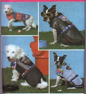 Sewing Pattern Dog Coat Coats Harley Davidson Motorcycle Jacket Vest