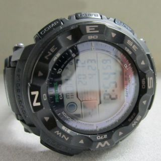 us casio atomic tough solar protrek prw2500 1a watch used