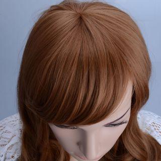 96 Ladies Side Bang Wig Medium Curly Hair JCJ 194 Carney Caron Brown