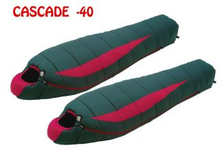Cascade 40 Degree Winter Bags Matched Zip Together Set by High Peak
