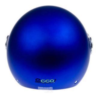 CASCO JET ORIGINE MODELO ECCO COLOR AZUL MATE
