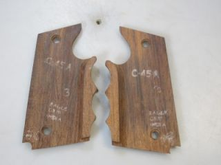 45 Eagle Exotic Carved Wood Combat Gun Grips Colt 1911 45 Govt
