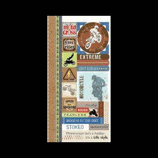 Carolees Creations Adornit Dirt Bike Cardstock Stickers Dirt Bike