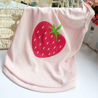 Dog Cat Pet Vest Clothes Strawberry Printing T Shirt Coat Pink XS M L