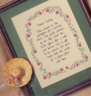 Seasons Cross Stitch Pattern Leisure Arts Sister Karlyn Cauley