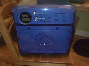 Sharp Half 1 2 Pint Carousel Microwave Blueberry Blue R 120DB