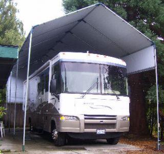 24 luxury portable rv carports for Boat garage kits