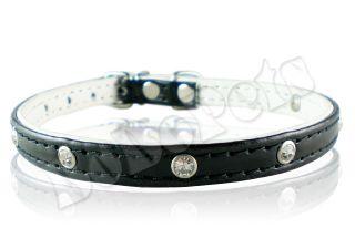 Rhinestone Dog Collar Cat Collar Pink Blue Silver Black
