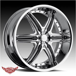 20x8 5 VCT Mobster Chrome Rims Wheels Commodore Crewman