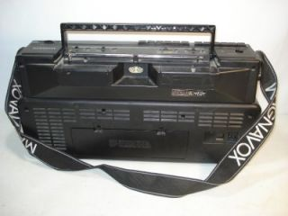 AW 8200 Dual Deck Stereo Cassette Recorder Ghettoblaster Boombox Strap