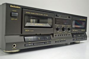Technics Stereo Cassette Deck Dual Tape Player Recorder RS TR333