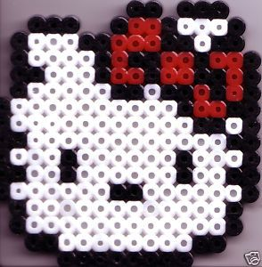 Hello Kitty Cat Bead Sprite Game Perler Art