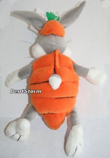 WB Bugs Bunny Carrot Easter Plush Bean Bag Basket New