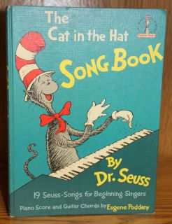 Dr. Seuss THE CAT IN THE HAT SONGBOOK 1967 TRUE 1st ED Suess
